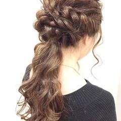 上品 ロング ポニーテール ヘアアレンジ ヘアスタイルや髪型の写真・画像