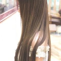 グレージュ 女子力 ロング コンサバ ヘアスタイルや髪型の写真・画像