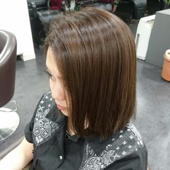 モード ボブ 透明感 秋 ヘアスタイルや髪型の写真・画像