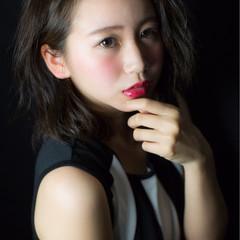 ピュア 暗髪 大人かわいい パーマ ヘアスタイルや髪型の写真・画像