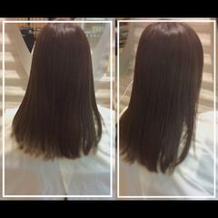 髪質改善トリートメント 白髪染め 艶髪 ナチュラル ヘアスタイルや髪型の写真・画像