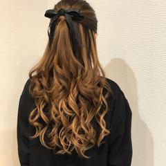 ヘアセット 結婚式 ハーフアップ ヘアアレンジ ヘアスタイルや髪型の写真・画像