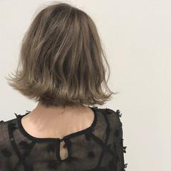 外国人風カラー ボブ デート 大人かわいい ヘアスタイルや髪型の写真・画像