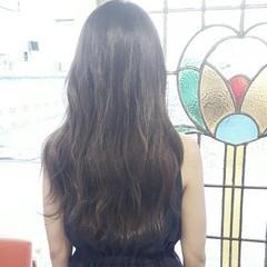 アッシュ コンサバ ロング 暗髪 ヘアスタイルや髪型の写真・画像