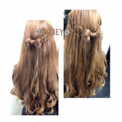 三つ編み 愛され モテ髪 ヘアアレンジ ヘアスタイルや髪型の写真・画像