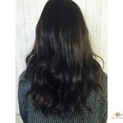 外国人風 大人かわいい 渋谷系 黒髪 ヘアスタイルや髪型の写真・画像