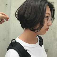 透明感カラー ショート グレージュ ショートヘア ヘアスタイルや髪型の写真・画像