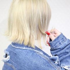 ミディアム ボブ 外国人風カラー ナチュラル ヘアスタイルや髪型の写真・画像