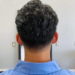 ショート 刈り上げ パーマ ストリート ヘアスタイルや髪型の写真・画像