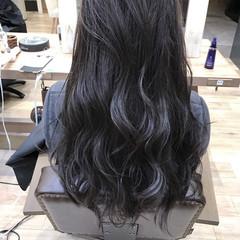 ストリート 暗髪 ロング 大人かわいい ヘアスタイルや髪型の写真・画像