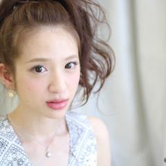 ヘアアレンジ ロング ガーリー 大人女子 ヘアスタイルや髪型の写真・画像