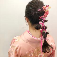 袴 ヘアセット ナチュラル ヘアアレンジ ヘアスタイルや髪型の写真・画像