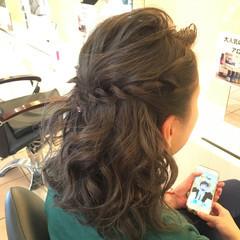外国人風 アッシュ セミロング シルバー ヘアスタイルや髪型の写真・画像