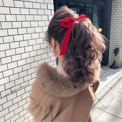 ヘアアレンジ 結婚式 ポニーテール アンニュイほつれヘア ヘアスタイルや髪型の写真・画像