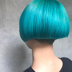 モード 大人女子 グラデーションカラー ボブ ヘアスタイルや髪型の写真・画像