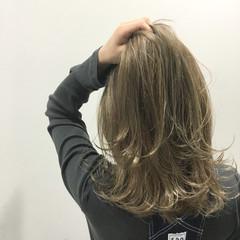 外国人風 ハイライト ボブ ストリート ヘアスタイルや髪型の写真・画像