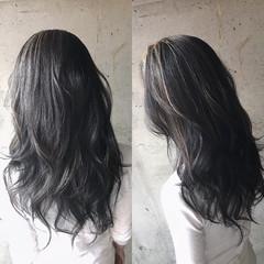 ロング ナチュラル バレイヤージュ 大人ハイライト ヘアスタイルや髪型の写真・画像