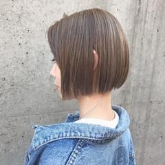 ボブ ミニボブ モテ髪 ナチュラル ヘアスタイルや髪型の写真・画像