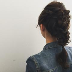 簡単ヘアアレンジ 女子会 ロング デート ヘアスタイルや髪型の写真・画像