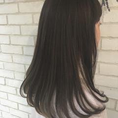 縮毛矯正 セミロング トリートメント 艶髪 ヘアスタイルや髪型の写真・画像