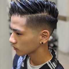 メンズショート ストリート フェードカット ショートヘア ヘアスタイルや髪型の写真・画像