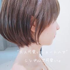ミニボブ ナチュラル ショート ベリーショート ヘアスタイルや髪型の写真・画像