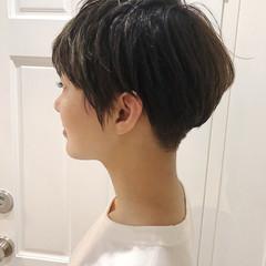 抜け感 ショート アウトドア 大人かわいい ヘアスタイルや髪型の写真・画像
