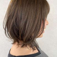 レイヤーボブ ボブ モテ髪 イルミナカラー ヘアスタイルや髪型の写真・画像