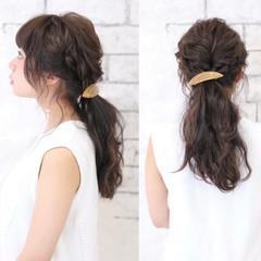ショート セミロング 大人かわいい 簡単ヘアアレンジ ヘアスタイルや髪型の写真・画像