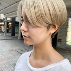 ブリーチ ホワイトブリーチ ブリーチカラー ハンサムショート ヘアスタイルや髪型の写真・画像
