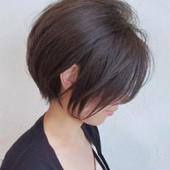 ショートボブ ナチュラル ショート ミニボブ ヘアスタイルや髪型の写真・画像