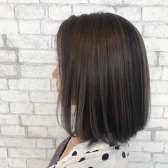 コンサバ ハイライト ミディアム 3Dハイライト ヘアスタイルや髪型の写真・画像