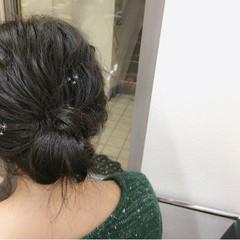 アッシュ ショート 波ウェーブ 簡単ヘアアレンジ ヘアスタイルや髪型の写真・画像