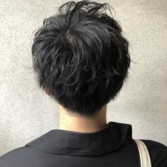 黒髪 ショート ストリート 無造作パーマ ヘアスタイルや髪型の写真・画像