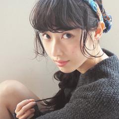 暗髪 大人かわいい セミロング ガーリー ヘアスタイルや髪型の写真・画像