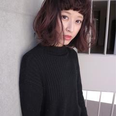 色気 ベリー ラベンダーピンク ストリート ヘアスタイルや髪型の写真・画像