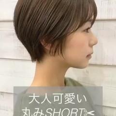 ナチュラル ショートボブ 大人ショート ショート ヘアスタイルや髪型の写真・画像