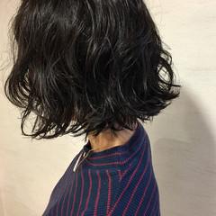 ヘアワックス パーマ ストリート ボブ ヘアスタイルや髪型の写真・画像
