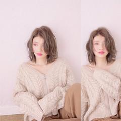 パーマ ボブ 外国人風 ミディアム ヘアスタイルや髪型の写真・画像