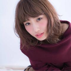冬 暗髪 くせ毛風 色気 ヘアスタイルや髪型の写真・画像