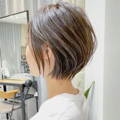 ミニボブ ショート ショートヘア アンニュイほつれヘア ヘアスタイルや髪型の写真・画像