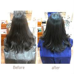 縮毛矯正ストカール ロング デジタルパーマ フェミニン ヘアスタイルや髪型の写真・画像