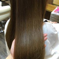 マット 暗髪 ロング ナチュラル ヘアスタイルや髪型の写真・画像