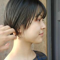 ナチュラル ショートヘア ナチュラル可愛い ヘアカラー ヘアスタイルや髪型の写真・画像