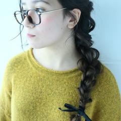 簡単ヘアアレンジ 外国人風 暗髪 アッシュ ヘアスタイルや髪型の写真・画像