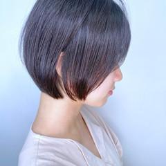 黒髪 簡単スタイリング ミニボブ 伸ばしかけ ヘアスタイルや髪型の写真・画像