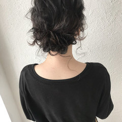 ナチュラル ヘアアレンジ ミディアム 大人かわいい ヘアスタイルや髪型の写真・画像