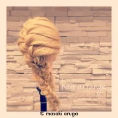 三つ編み コンサバ 結婚式 フェミニン ヘアスタイルや髪型の写真・画像
