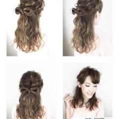 ハーフアップ ヘアアレンジ まとめ髪 アンティーク ヘアスタイルや髪型の写真・画像