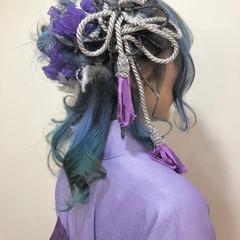 ヘアアレンジ ヘアセット セミロング 卒業式 ヘアスタイルや髪型の写真・画像